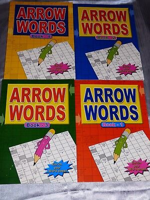 4 X A4 Large Print Arrow Word  Puzzle Books 67 Puzzles Per Book Holiday Flight