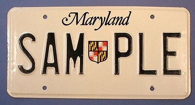 1986 Maryland Sample License Plate            Ul1712