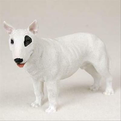 Bull Terrier Dog Hand Painted Canine Collectable Figurine Statue