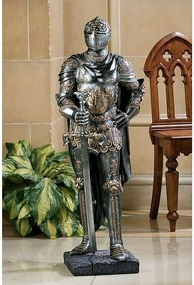 Medieval Gothic Armor Museum Replica Half Scale King's Guard Knight Statue NEW