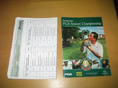 The PGA Seniors Golf Championship 2003 Official Programme + Order Of Play