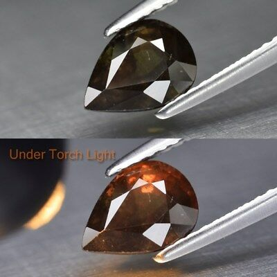 1.65ct 8x5.8mm Pear Natural Unheated Color Change Garnet, Africa