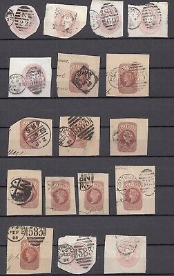 GB  A Collection of Prepaid Victorian Stamps  Postmark Interest   Used  (4978)