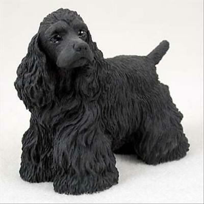 Cocker Spaniel Black Dog Hand Painted Canine Collectable Figurine Statue