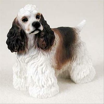 Cocker Spaniel Brown White Dog Hand Painted Canine Collectable Figurine Statue
