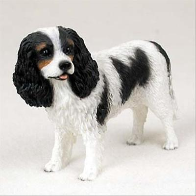 Cavalier King Charles Tri Dog Hand Painted Canine Collectable Figurine Statue
