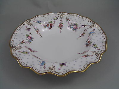 """Royal Crown Derby Royal Antoinette 8 1/2"""" Rimmed Soup Bowl New, Made In England."""