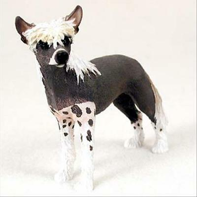 Chinese Crested Dog Hand Painted Canine Collectable Figurine Statue