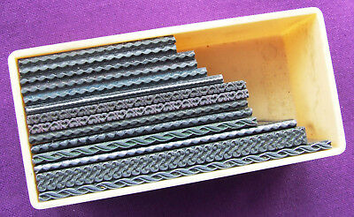 Letterpress Printing ADANA Small Box of Short DECORATIVE LINES Metal Type pieces