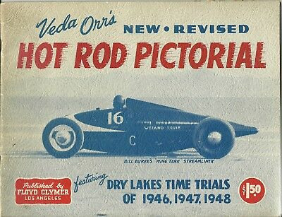 1940'S ORIGINAL,VEDA ORR'S Hot Rod Pictorial,Land Speed,Dry Lake Trials,, Miller