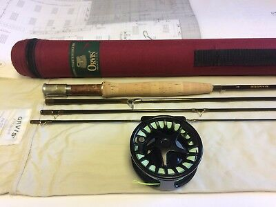 "Orvis T3 Fly Rod & Reel 5 wt 8'6"" Tip Flex 9.5 trout fishing superfine helios 4"