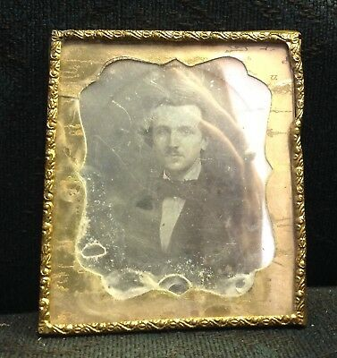 Daguerreotype photograph Edgar Allen Poe lookalike 6th plate Vermont estate find