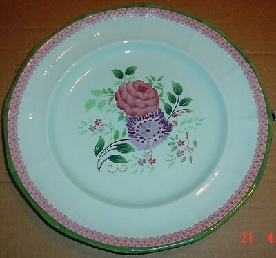 Adams Calyx Ware Hand Painted Cabinet Or Collectors Plate Flowers