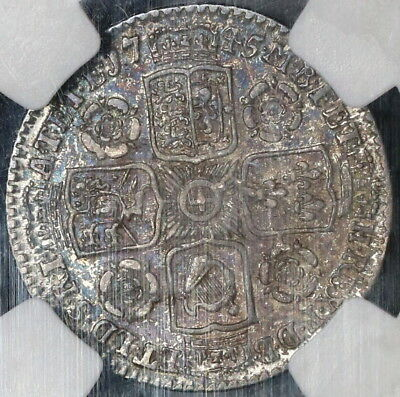 1745 NGC VF 35 GREAT BRITAIN 6 Silver Pence George II Coin POP 3/1  (17101001D)