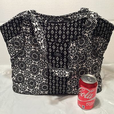 BLACK & White MEDALLION Sisters STACIE Quilted PURSE Longaberger Handbag Tote
