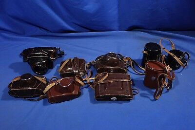 LOT of Assorted Zeiss Ikon Lens and Camera Cases #L2760BP