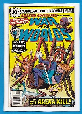 Amazing Adventures #37_July 1976_Fine/very Fine_Killraven_War Of The Worlds_Uk!