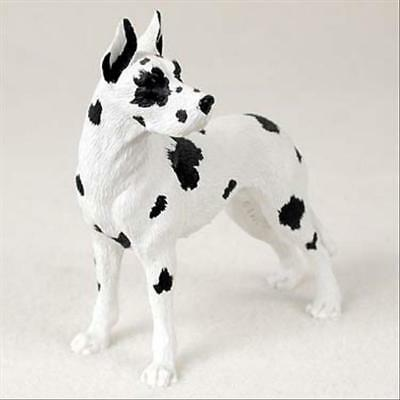 Great Dane Harlequin Cropped Dog Hand Painted Collectable Figurine Statue