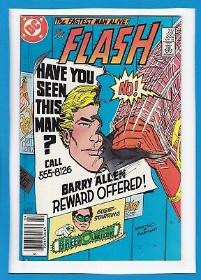 """The Flash #332_April 1984_Very Fine_Green Lantern_""""defend The Flash...and Die?""""!"""