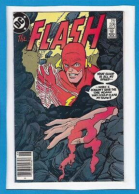 """The Flash #336_August 1984_Very Fine_Pied Piper_""""murder On The Rocks""""!"""