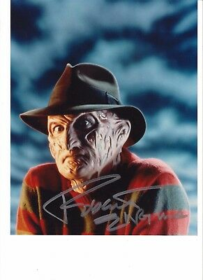 NIGHTMARE ELM STREET personally signed 10x8 - ROBERT ENGLUND as FREDDY