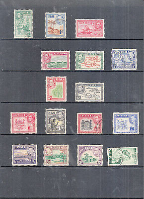 Fiji 1938 Values To 5/- Used + Other