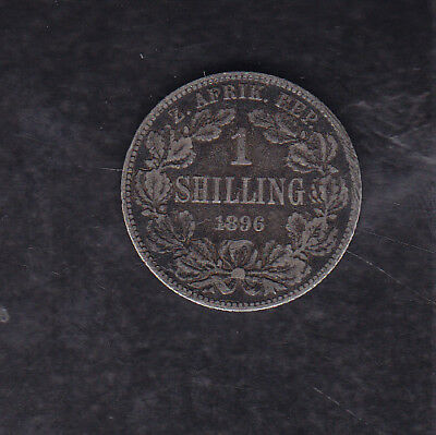 1896 South Africa (Z.a.r.) Silver Shilling