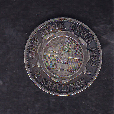 1892 South Africa (Z.a.r.) Silver 2 Shillings