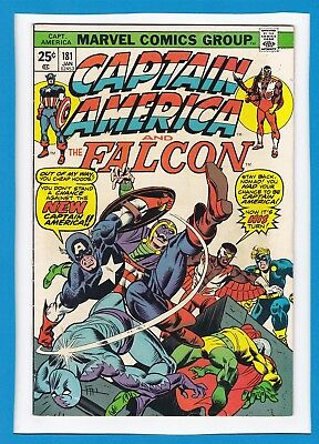 Captain America & The Falcon #181_Jan 1975_Fine/very Fine_Sub-Mariner_Nick Fury!