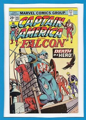 "Captain America & The Falcon #183_March 1975_Vf Minus_Beast_""death Of A Hero""!"
