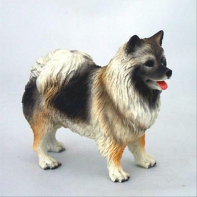 Keeshond Dog Hand Painted Canine Collectable Figurine Statue