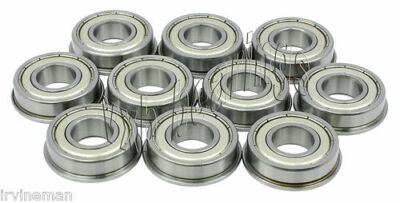 "1/24 Slot Car 3/32"" Axle Ball Bearing Lot of 10 Slotcar Flanged/with flange inch"