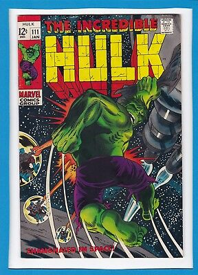 "Incredible Hulk #111_January 1969_Vf_""shanghaied In Space""_Silver Age Marvel!"