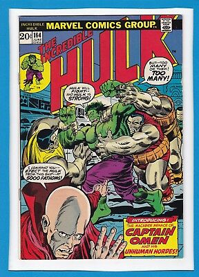 "Incredible Hulk #164_June 1973_Fine_""captain Omen And His Unhuman Hordes""!"