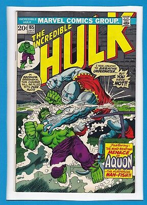 "Incredible Hulk #165_July 1973_Very Fine+_""aquon...the Man-Fish""_Bronze Age!"