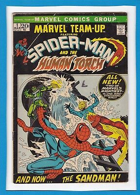 Marvel Team-Up #1_March 1972_Very Good+_Spider-Man_Human Torch_Sandman!