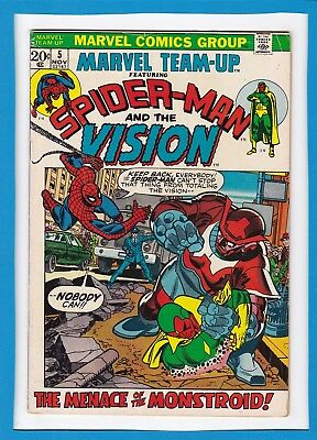 Marvel Team-Up #5_November 1972_Very Good_Spider-Man_The Vision_Bronze Age!