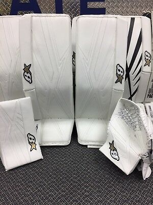 "Brian's Subzero 7.0 Sr Full Set 33""+1"" Solid White Goalie Warehouse Sale!!"