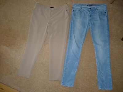 Bundle Womens Clothes.oasis Jeans,atmosphere Trousers.size 14Uk