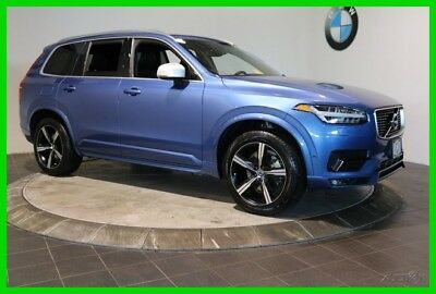 2016 Volvo XC90 T6 R-Design 3rd ROW NAVIGATION SYSTEM PREMIUM PACK 2016 Volvo XC90 Blue SUV T6 R-Design 3rd ROW NAVIGATION SYSTEM PREMIUM PACK AWD