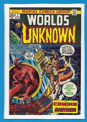 "Worlds Unknown #1_May 1973_Fine Minus_""coming Of The Martians""_Premiere Issue!"