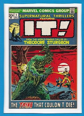 "Supernatural Thrillers #1_December 1972_Fine_""it""_Theodore Sturgeon_Bronze Age!"
