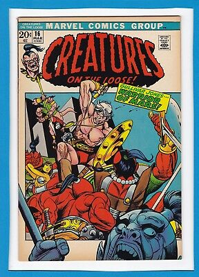 CREATURES ON THE LOOSE #16_MAR 1972_VF-_1st APP GULLIVAR JONES..WARRIOR OF MARS!