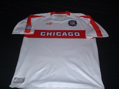 Chicago Fire USA United States MLS Soccer Football Large Mans Vintage Jersey