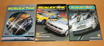 Three Scalextric Cars & Equipment Past & Present Books, Roger Gillham, Excellent
