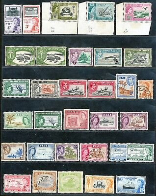 British Commonwealth Qe / Kgv Incl. Papua Issues Fine Used / Mint Lot.  A56