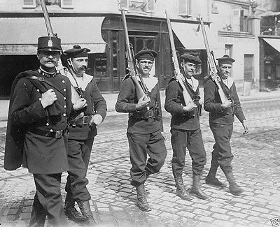 French naval recruits drilling in Paris France World War I 8x10 Photo