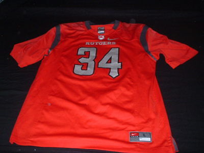 Rutgers Knights USA NFL American Football Large Mans No34 Nike Stretch Jersey