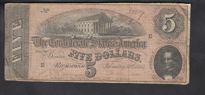 1864 United States 5$ Dollars Bank Note