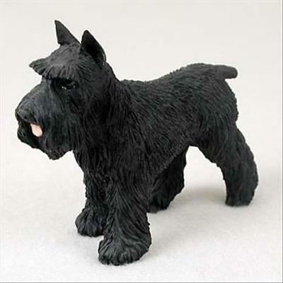 SCHNAUZER Black Cropped Dog Hand Painted Canine Collectable Figurine Statue